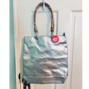 [NEW] Silver Tote with Insert Bag